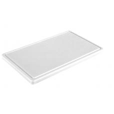 Обробна дошка біла з жолобом 400х300х20 мм FoREST (460043)