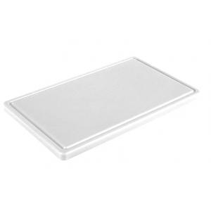 Обробна дошка біла з жолобом 500х400х20 мм FoREST (460054)