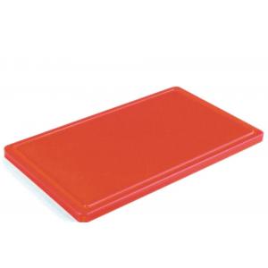 Разделочная доска красная с желобом 400х300х20 мм FoREST (460143)