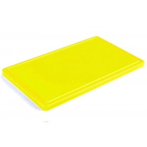 Разделочная доска желтая с желобом 400х300х20 мм FoREST (460243)