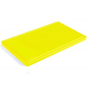 Разделочная доска желтая с желобом 500х400х20 мм FoREST (460254)