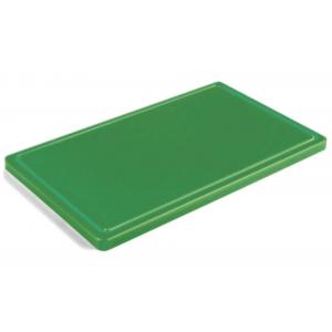 Разделочная доска зеленая с желобом 400х300х20 мм FoREST (460343)