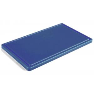 Разделочная доска голубая с желобом 400х300х20 мм FoREST (460443)