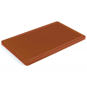 Разделочная доска коричневая с желобом 400х300х20 мм FoREST (460643)