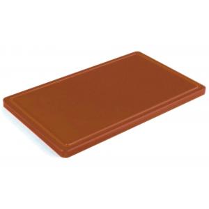 Разделочная доска коричневая с желобом 500х400х20 мм FoREST (460654)