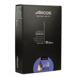 Набор ножей из 4-х предметов с подставкой Opera Arcos  (228700)